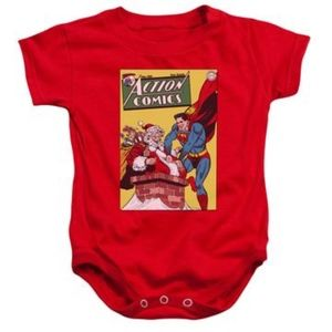 Other - Dc - Superman Saves Santa Infant Snapsuit Onesie